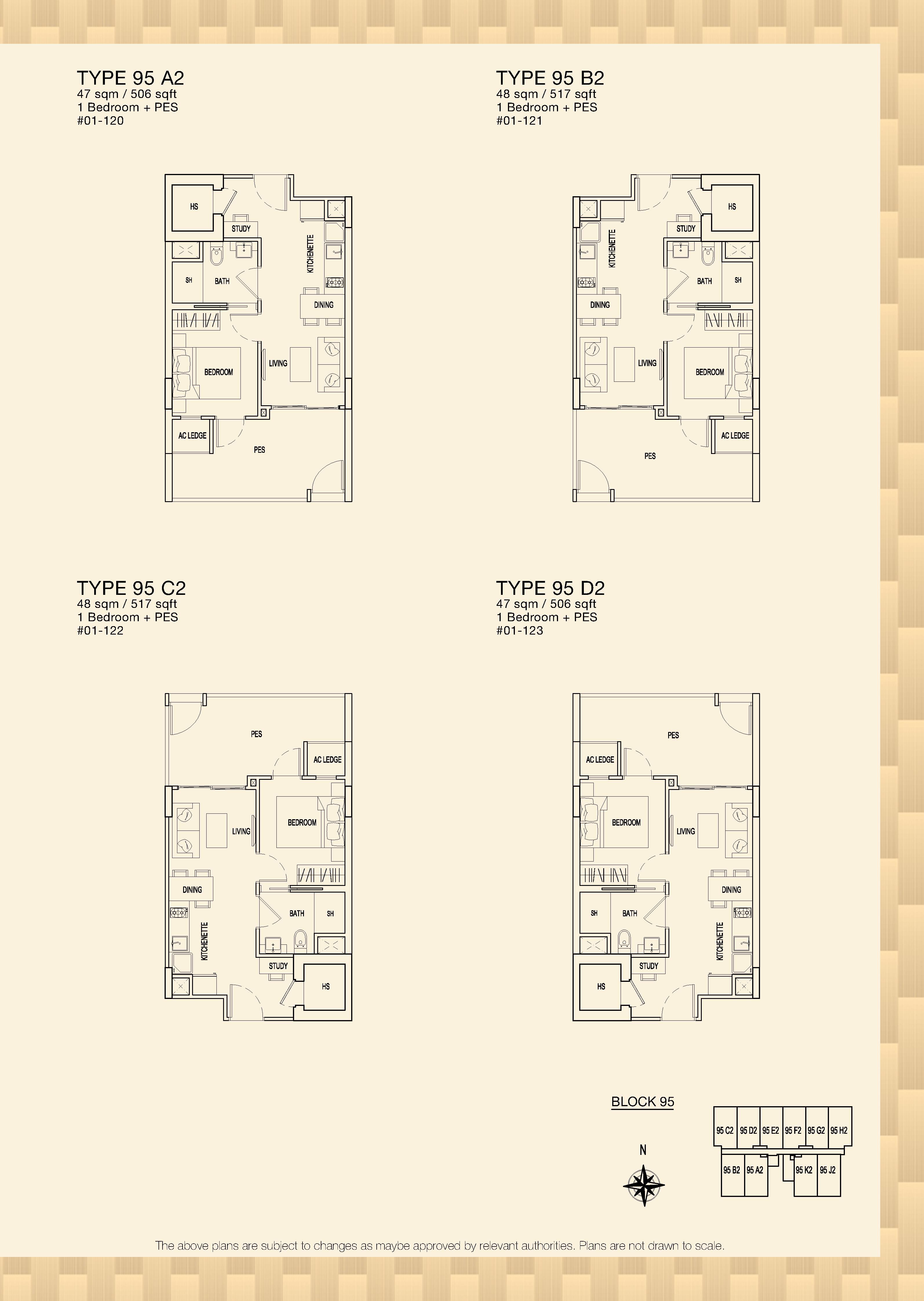 Parc Rosewood Block 95 1 Bedroom PES Type 95 A2, 95 B2, 95 C2