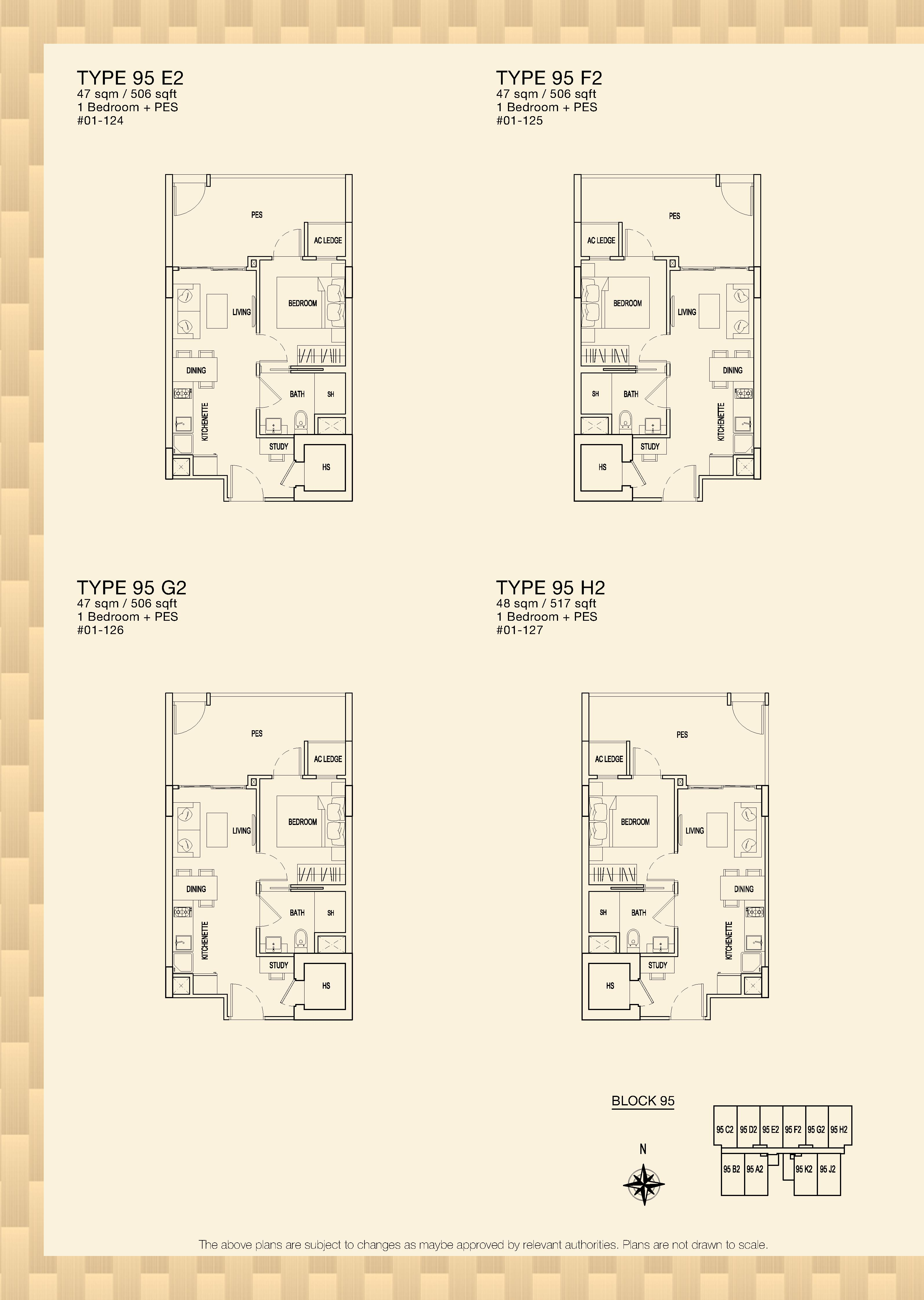 Parc Rosewood Block 95 1 Bedroom PES Type 95 E2, 95 F2, 95 G2
